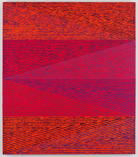 Orange and violet Triangles, 2015